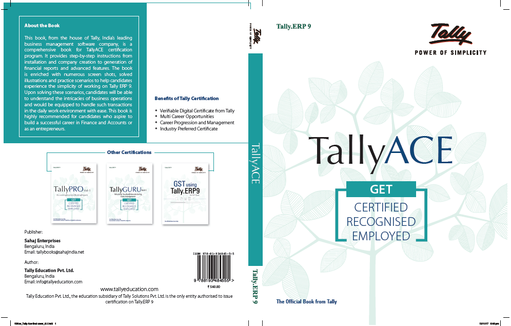 Tally Basic Notes | Tally Learning Book | Tally Guide for